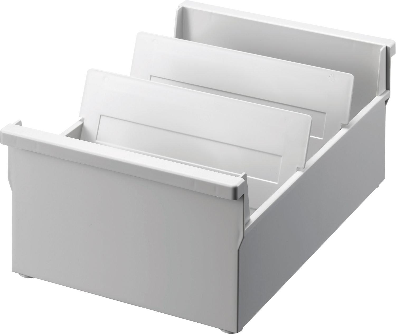 Helit H6201382 - Trogolo a schedario, formato A5 orizzontale, 282 x 347 x 234 mm, grigio chiaro