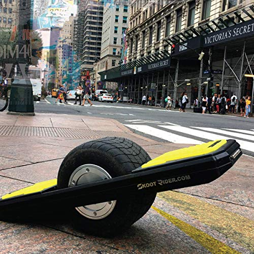 SkootRider Yellow on Black (Electric One Wheel Scooter)