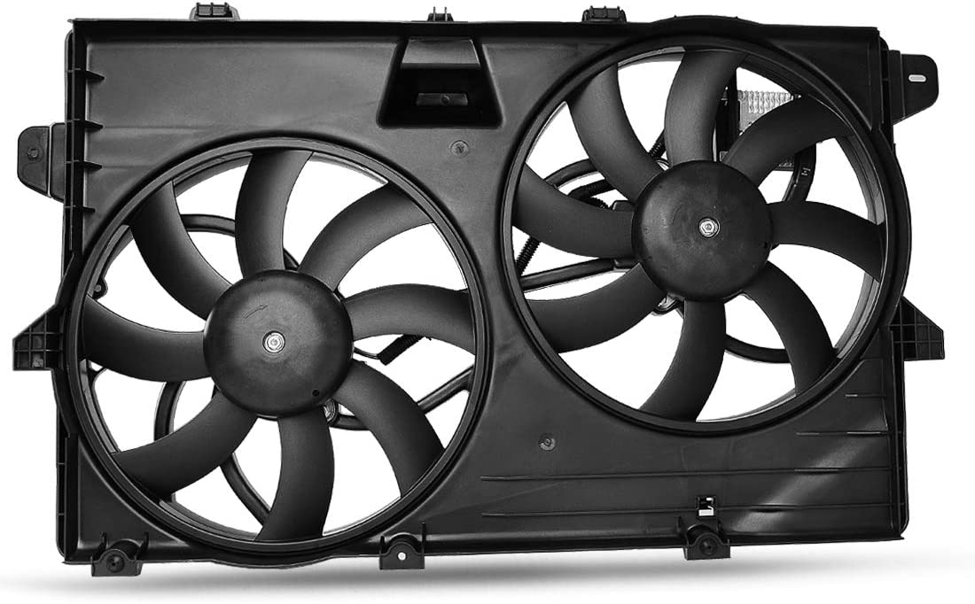 OEM Cooling Radiator Condenser Fans Assembly For Ford Edge Limited SE SEL Sport, For Lincoln MKX Base Premium V6 3.5L 3.7L ATRDF017