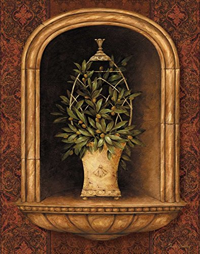 Olive Topiary Niches I by Pamela Gladding 18