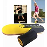 Wooden Balance Board - Premium Balance Trainer with Roller for Surf, SUP, Ski, Snowboard and Skateboarding