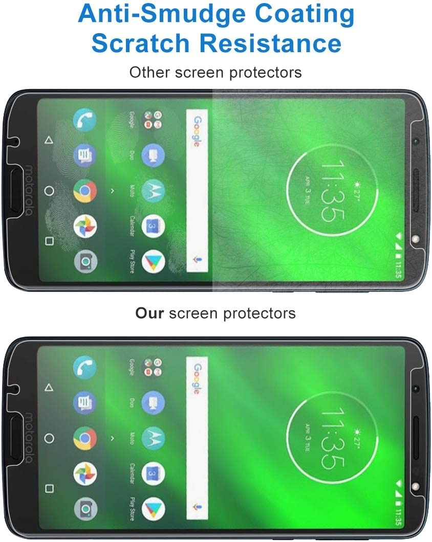 YINZHI Screen Protector Film 50 PCS 0.26mm 9H 2.5D Tempered Glass Film for Motorola Moto G6 Plus Clear