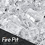 Cheap Fireglass 10-pound Fire Glass with Fireplace Glass and Fire Pit Glass, 1/4-inch, Clear