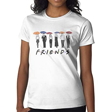 5e67db2f Mawp Friends Umbrella Girl's Combed Cotton Crew Neck Short Sleeve Casual T  Shirt at Amazon Women's Clothing store: