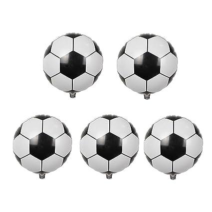 Amazon Com Queenbox Mini Football Soccer Foil Balloons Diy