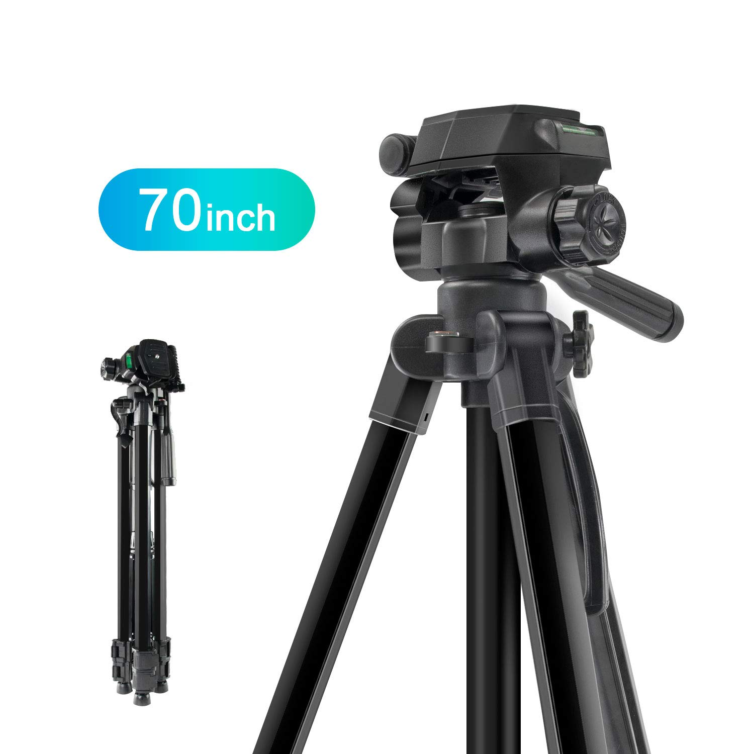 MOUNTDOG Camera Tripod 70'' Professional DSLR Aluminum Alloy Camera Travel Tripod Stand Light Weight Adjustable for Video Canon Nikon Sony Samsung Olympus Panasonic Pentax by MOUNTDOG