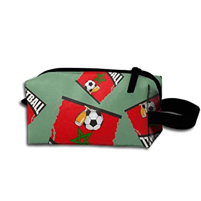 FGca1 Bag Football Beer Soccer Morocco Unisex Leggiere Cosmetic Bags Pouch Bags For Business