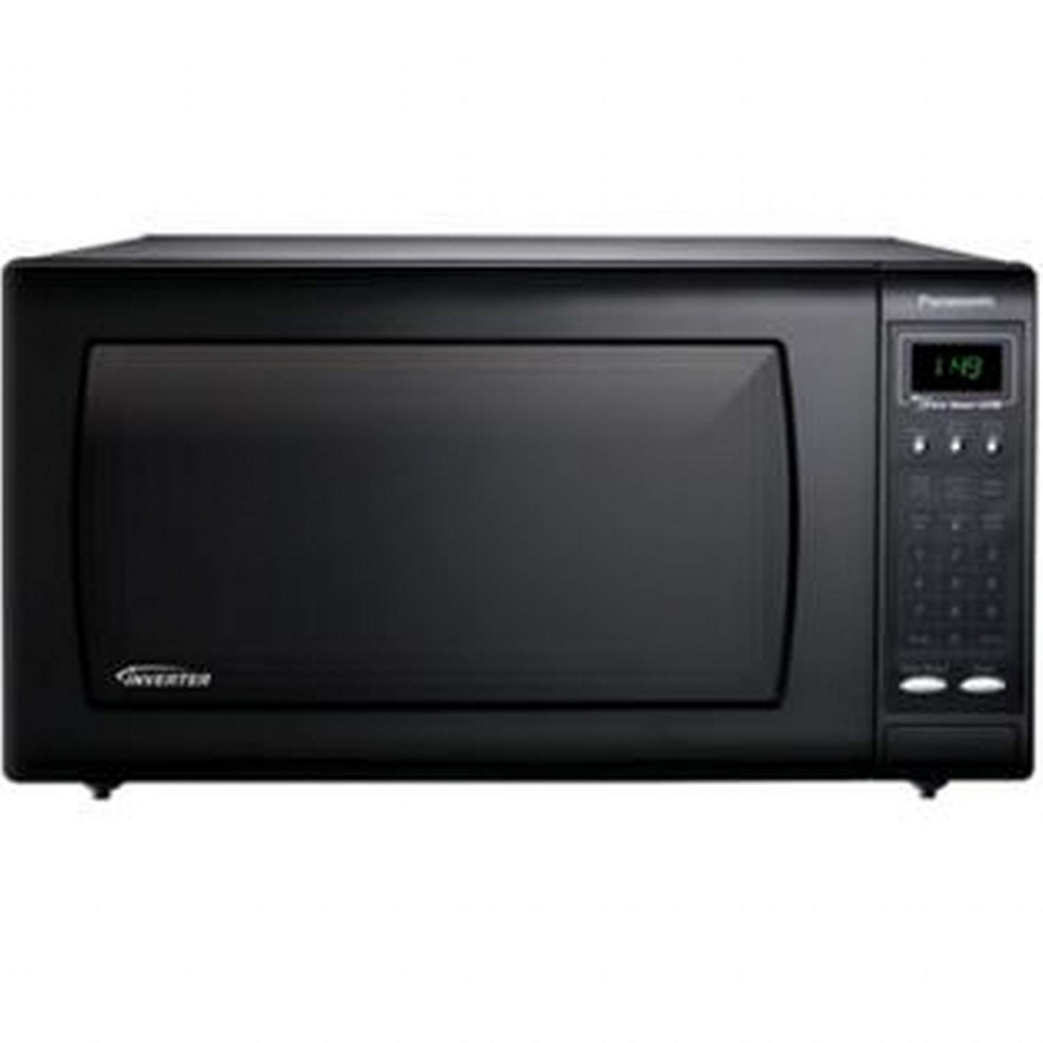 Panasonic NN-H765BF 1.6 Cubic Foot Countertop Microwave Oven with Inverter Technology, Black