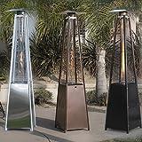 Belleze Propane Outdoor Patio Heater - Pyramid Style w/Dancing Flame (Floor Standing) 42,000 BTU