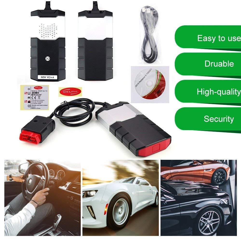 2015R3 Car Truck OBD Diagnostic Scanner Kits CDP USB For DELPHI black