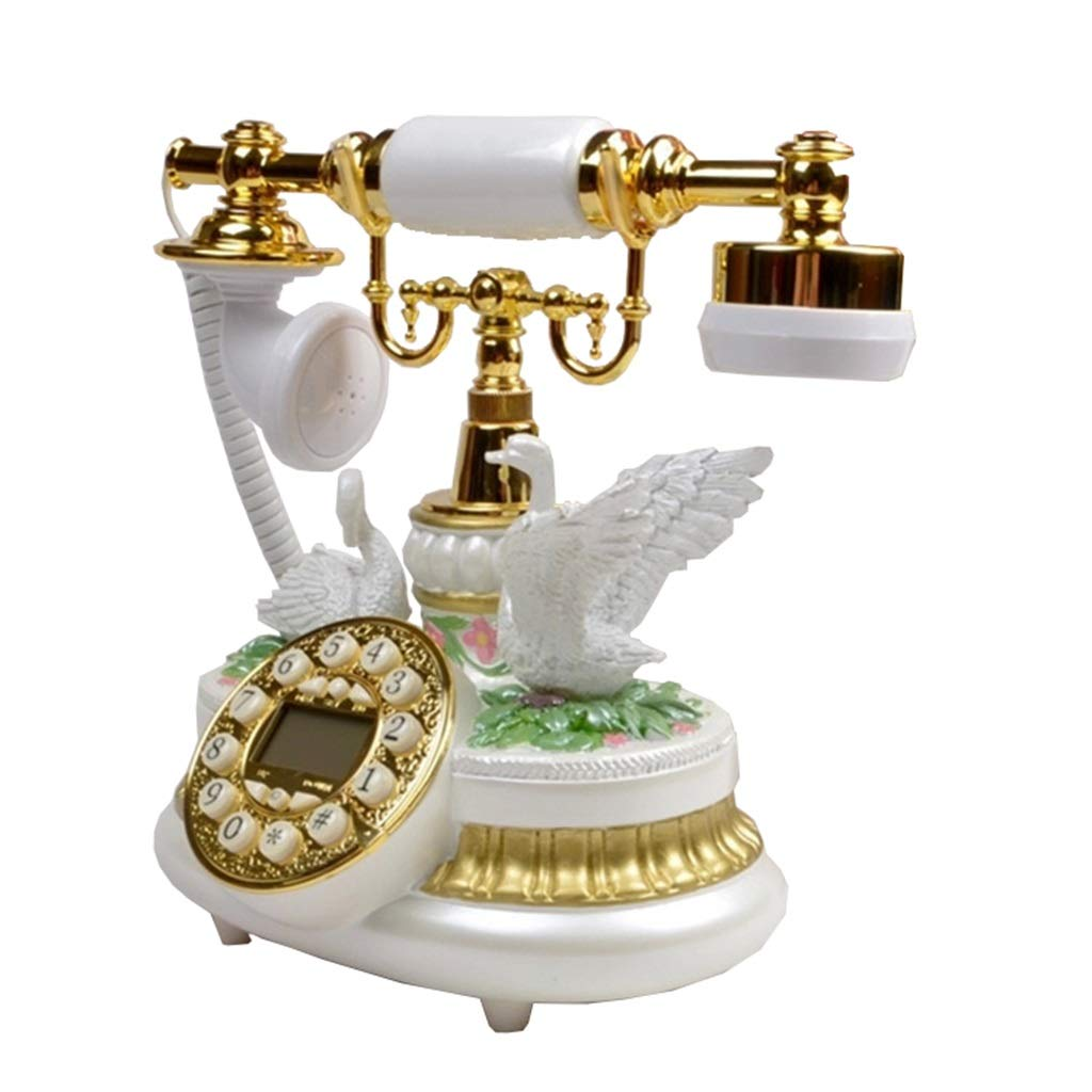 JGBHPNYX Antique Phone European Classical Style Retro Classic Flying Crane Telephone
