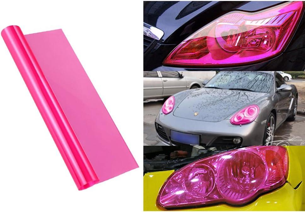 VORCOOL Schutzfolie Pink f/ür Scheinwerfer-Scheinwerfer Auto und Motorrad-Dekoration und Schutz von 30/x 60/cm