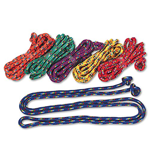 Champion Sports Products - Champion Sports - Braided Nylon Jump Ropes, 8-ft., 6 Assorted Color Jump Ropes/Set - Sold As 1 Set - Set includes one of each color jump rope. - Braided rope material is nylon. - Handle is knotted.
