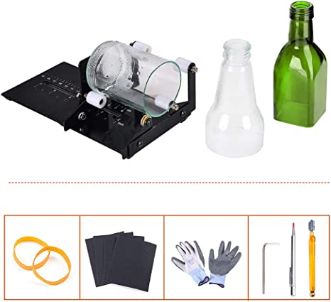 Glass Bottle Cutter Tool Craft Cutting Kit DIY Jar Machine Adjust Diameter Cut
