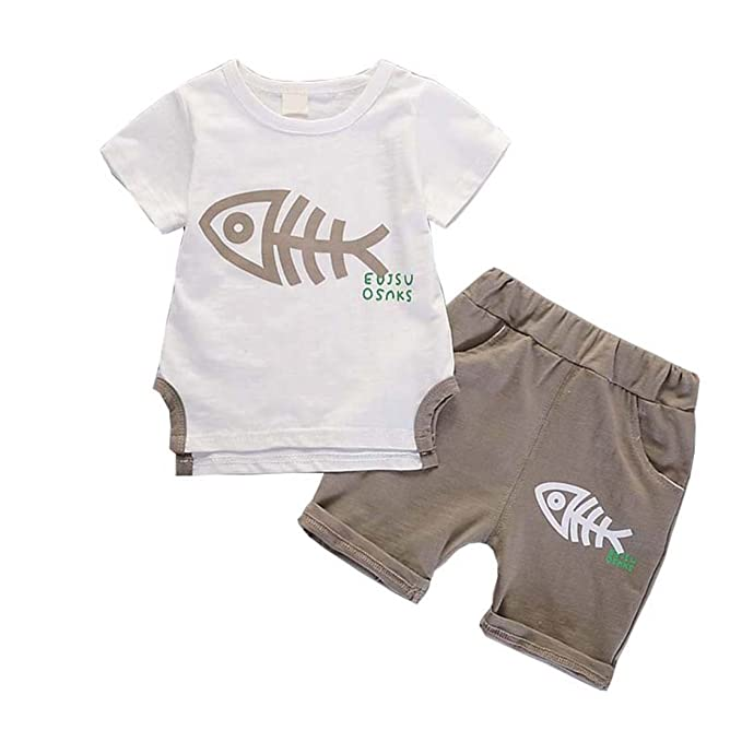 14e788be83a4 Amazon.com  daqinghjxg 2pcs Baby Boy Clothes Children Clothing Set ...