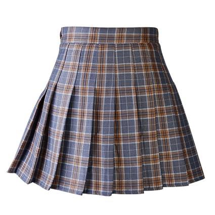 0dfef31ed7 Women Casual Plaid Skirt Girls High Waist Pleated Skirt A-line School Skirt  Uniform With Inner Shorts: Amazon.ca: Clothing & Accessories