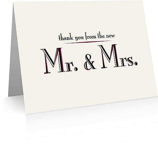 Boda tarjetas de agradecimiento (40, tarjetas y sobres ...