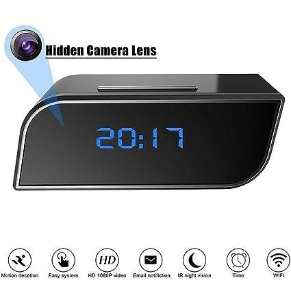 Konesky Reloj Oculto de la cámara de WiFi, cámara espía 1080P con la cámara de