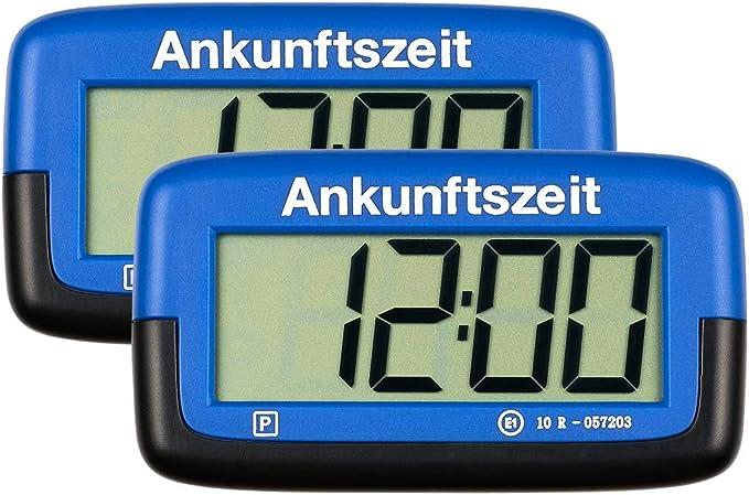 2x Needit Park Micro Digitale Parkscheibe Mikro Elektronische Parkuhr Mit Offizieller Zulassung Blau Menge 2 Stück Auto