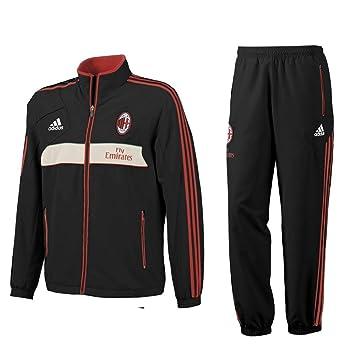 4674e80c6 adidas 2012-13 AC Milan Chándal (Negro) presentación, Color Negro - Negro