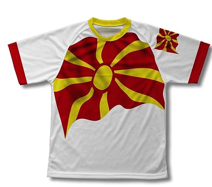 Macedonia Flag Technical T-Shirt for Men and Women  Amazon.co.uk ... fab4fe57a