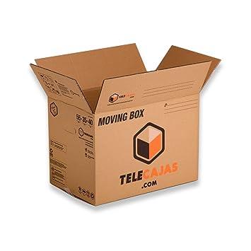 Cajas de cartón tamaño Estándar Mudanzas Doble Pared Asas EXTRAFUERTES TeleCajas X10TCM (x10) Lote de 10 unidades (55x35x40 cms): Amazon.es: Oficina y ...