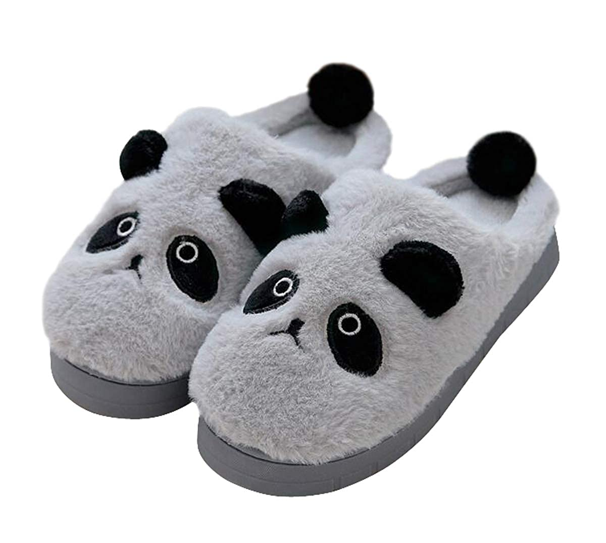 Adorable Cartoon Panda Womens Indoor Winter Warm Slippers Plush Slippers Soft Cozy Slip-on Slipper