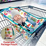 Baby Shopping Cart Hammock for Newborn Under 6 Months Infant, Broaden & Deepen Shopping Cart Cover Safer for Babies, Come with Cartoon Storage Pouch, Best Baby Shower Gifts for Mommy and Daddy