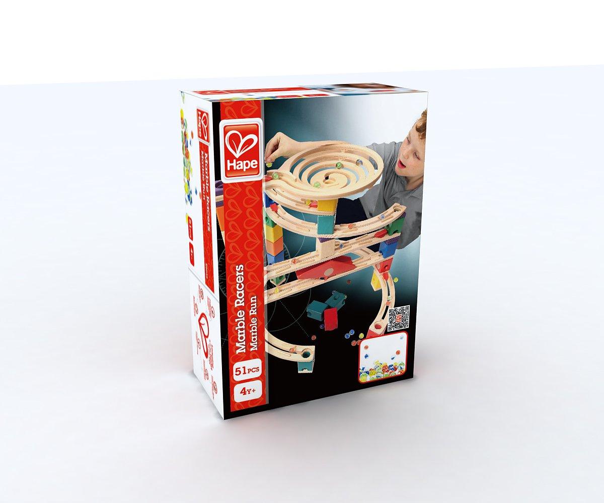 Hape E6035 - Biglie da Gara, Multicolore (51 pezzi)