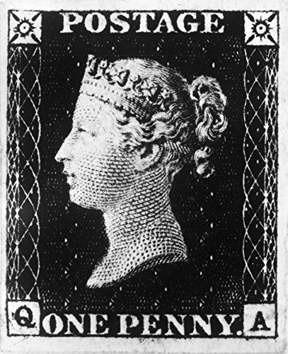 Postage Stamp 1840 Nthe Penny Black Of Great Britain Engraved By Frederick Heath And Printed By Perkins Bacon & Co Issued On 6 May 1840 It Was The WorldS First Adhesive Postage Stamp Poster Print by (Postage Adhesive)