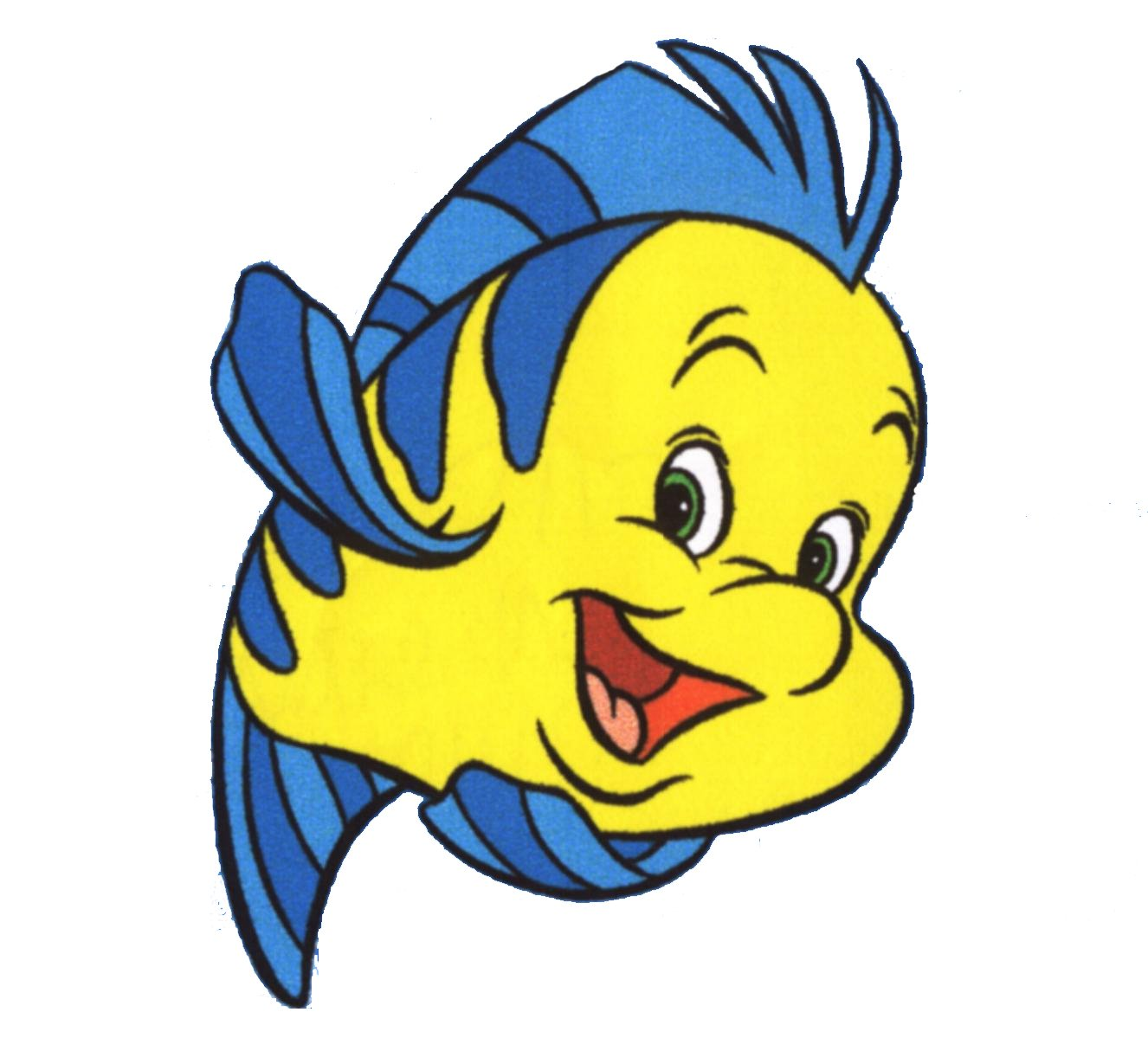 Uncategorized Pictures Of Flounder From The Little Mermaid amazon com the little mermaid flounder wall decal kids sticker cartoon 4 x 5 home kitchen