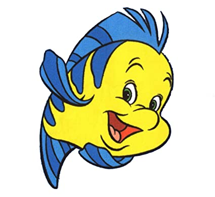 Amazon.com: The Little Mermaid Flounder Wall Decal kids sticker ...