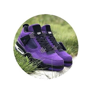0bcb300957b021 Authentic Travis Scott x 4S IV Cactus Jack Basketball Shoes for Men Purple  Suede Sports Sneakers