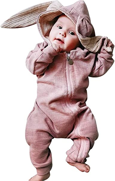 Newborn Baby Girls Boys Bodysuit Hooded Romper Bodysuit Costume Infant Toddler Kids Pumkin Print Halloween Zipper Jumpsuit Playsuit Outfits Long Sleeve Cotton Onsises Cartoon Sleepsuit Coveralls