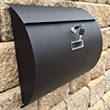 MPB1402B Semi Curve Lockable Mailboxes Painted Black Stainless Steel Mail Boxes Modern Urban Style - QUALITY IS TOP, ANTI-RUST, STURDY AS REVIEWS FROM CLIENT