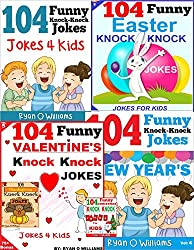 104 Funny Knock Knock Jokes for kids  SUPER COLLECTION: (Joke Books for Kids) (1,2,3,4,5,6 Book 7) (English Edition)