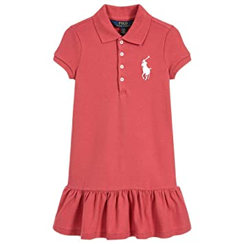 659abe91 Image Unavailable. Image not available for. Color: Ralph Lauren Girls Pink  Big Pony Ruffle Polo ...