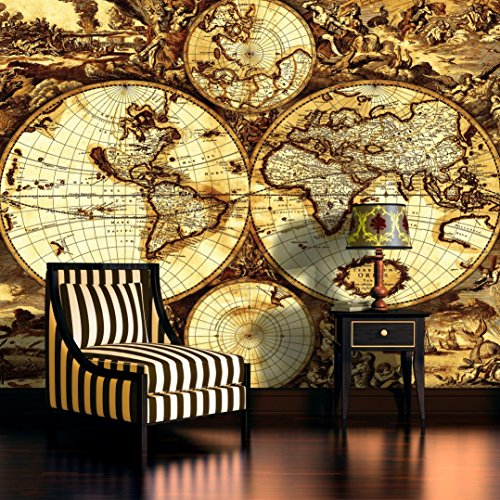 Vintage world map wallpaper mural buy online in uae kitchen vintage world map wallpaper mural buy online in uae kitchen products in the uae see prices reviews and free delivery in dubai abu dhabi gumiabroncs Images