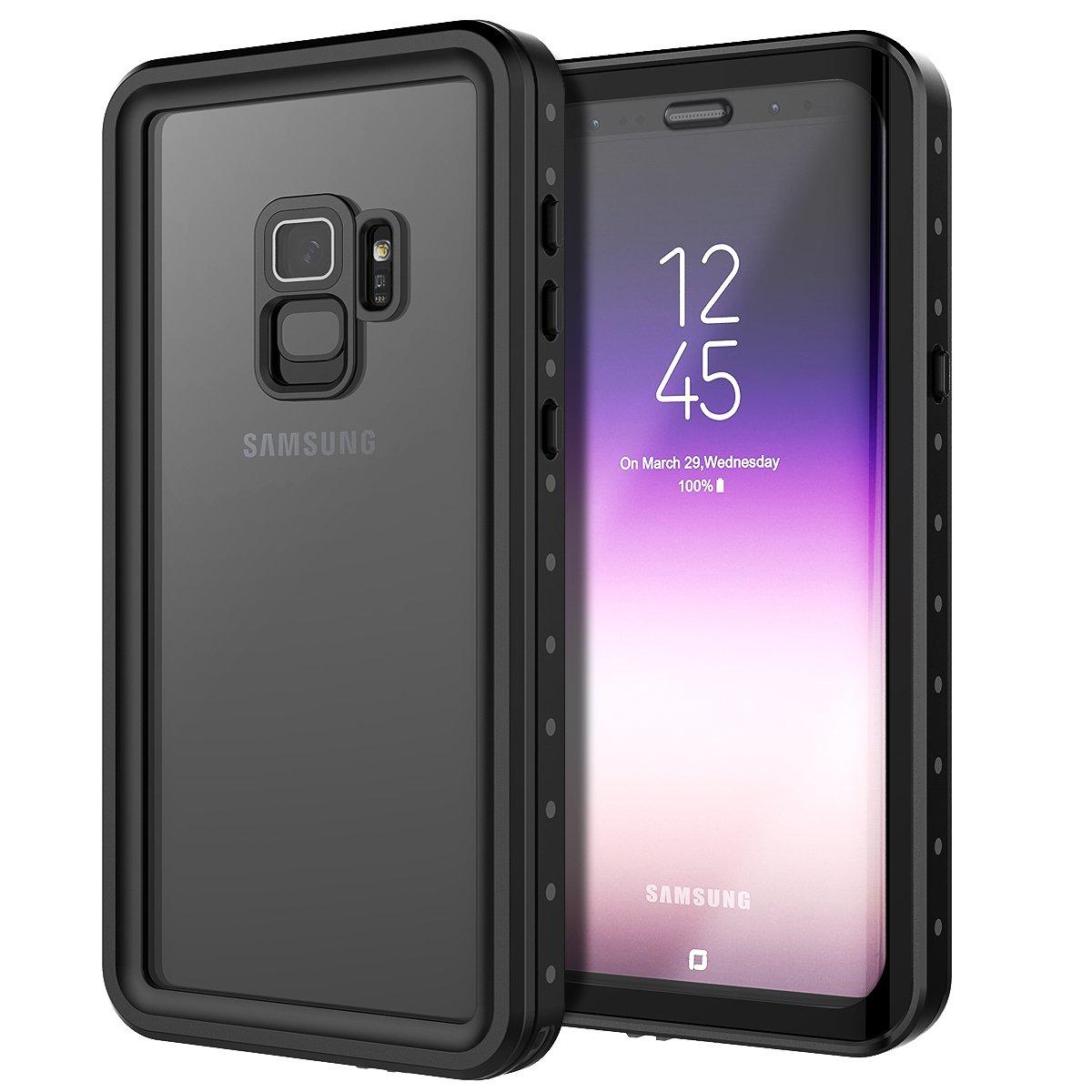 Galaxy S9 Custodia Impermeabile, IP68 Antiurto Waterproof Custodia Schermo Incorporato, Prova Caduta Robusta, Protezione Prova Polvere Case per attività Protezione Prova Polvere Case per attività adorehouse O341-HJ-262