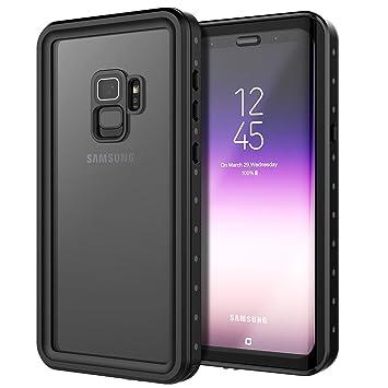 Funda Impermeable Samsung Galaxy S9, [Happon][Certificación IP68] Resistente al Agua Funda Case Waterproof Completamente Aellada con Protector de ...