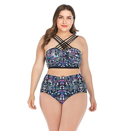 Bikini Trajes de baño de dos piezas Tallas grandes para mujer ...