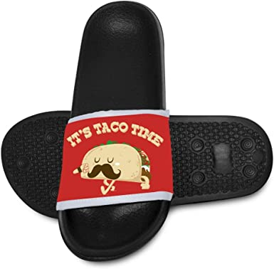 Taco Time 1 Slide Sandals Indoor /& Outdoor Slippers Shoes for kids boys and girls