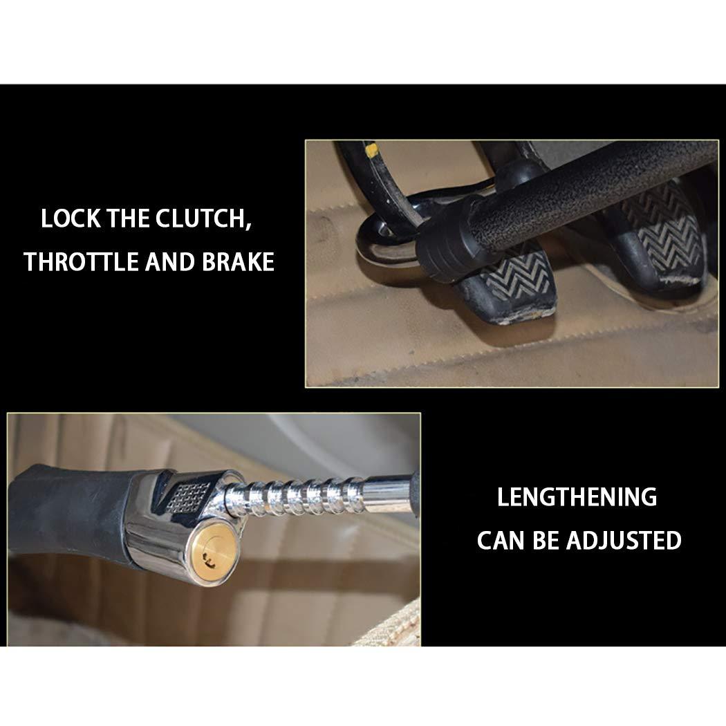 LanPerro Lenkradschl/össer Diebstahlsichere Hochsicherheits-Lenkradsperre Bremspedal-Kupplungssperre Funktioniert Mit Allen Modellen