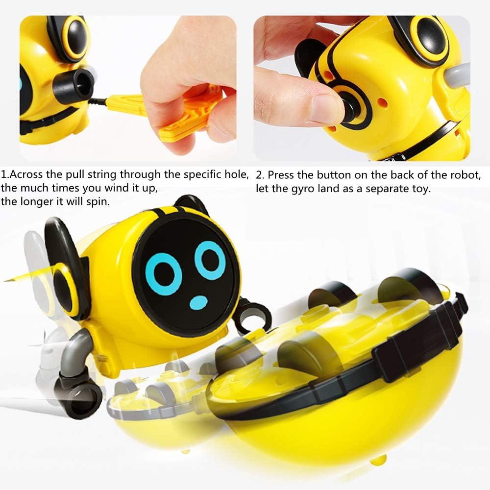 RONGGE Spinning Tops Toys Multi-Function Mini Robot Battling Tops Game for Kids
