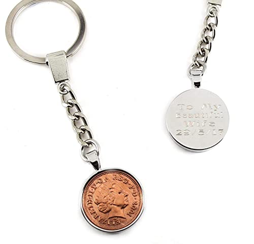 18th Birthday Gift 2001 coin keychain for an 18th Birthday present