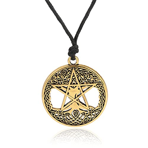 Amazoncom Wicca Religious Tree of Life Pentacle Celtic Knot Hollow