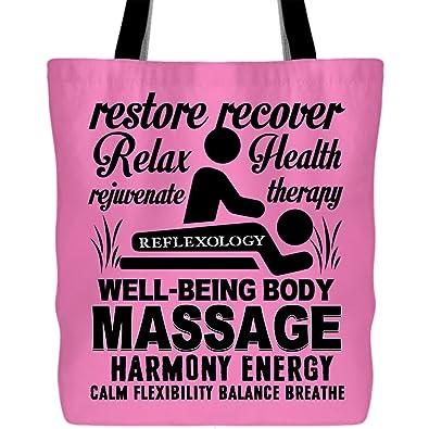 Amazon.com: Bolsa de masaje con texto en inglés