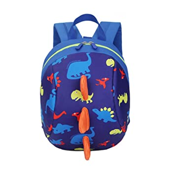 DafenQ Cute 3D Cartoon Baby Toddlers Backpack Nursery Kindergarten Book Bag Kids Harness With Safety