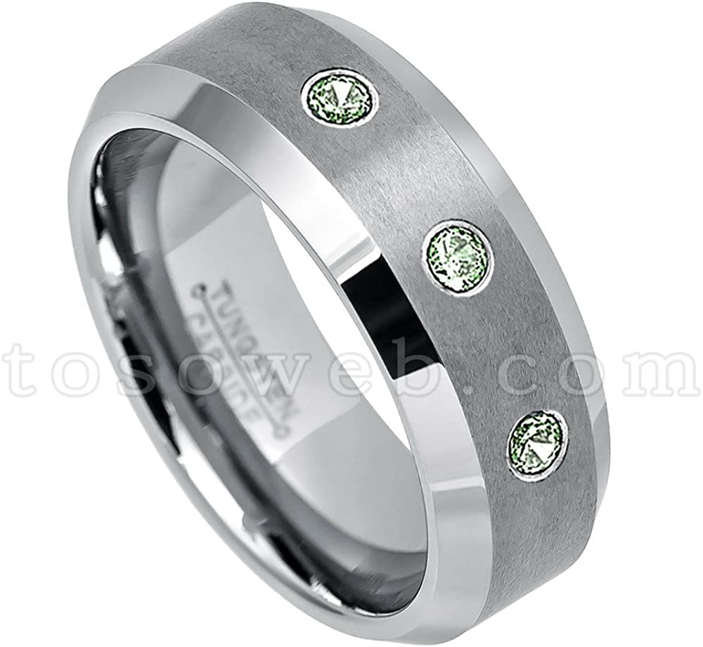 Tungsten Wedding Ring Tungsten Ring Rose Gold Black 8MM Wedding Band Men/'s Tungsten Ring Tungsten Band Personalized Ring Custom Made Ring