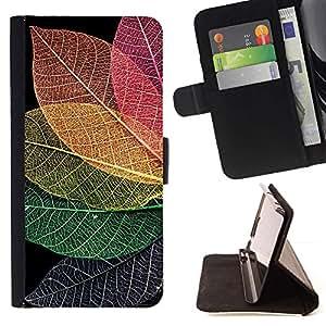 Momo Phone Case / Flip Funda de Cuero Case Cover - Fall otoño colorido Naturaleza - Motorola Moto E ( 1st Generation )